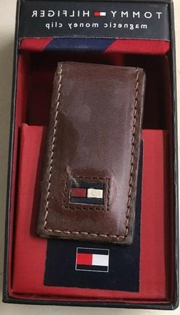 Tommy Hilfiger Leather  Money Clip Unisex Brown Leather NEW