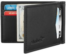 Travelambo Leather RFID Blocking Slim Minimalist Front Pocke
