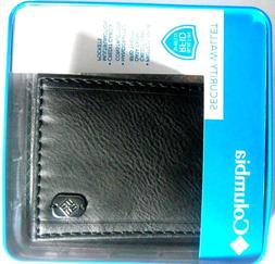 COLUMBIA Leather Security Black Wallet Anti RFID 31CO1627 w/