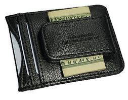 Genuine Leather Money Clip front pocket wallet with magnet c