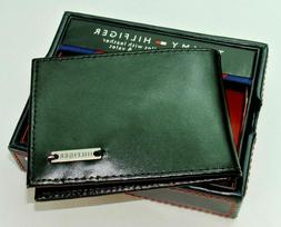 Tommy Hilfiger Men's Leather Wallet w Money Clip & Valet Bla