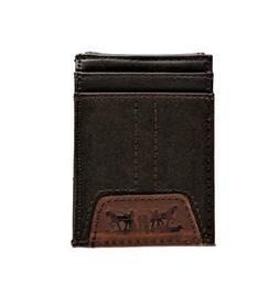 Levi's Men's Leather Magnetic Money Clip Front Pocket Wallet