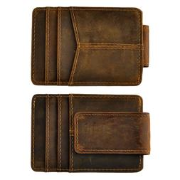 Male Quality Leather Travel Slim Rfid Wallet Front Pocket <f