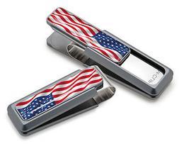 Men's M-Clip American Flag Money Clip - Metallic