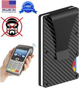 Men Credit Card Holder Wallet Gifts RFID Blocking Slim Money