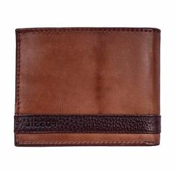 Men's Fossil 'Derrick' Rfid Leather Bifold Wallet - Brown