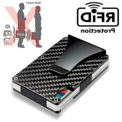 Men RFID Blocking Slim Money Clip Wallet Credit Card ID Hold