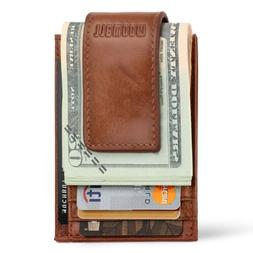 Men RFID Blocking Slim Money1 Clip Wallet Credit Card ID Hol
