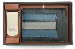 Coach Men's Boxed 3-In-1 Varsity Card Case & Money Clip Gift