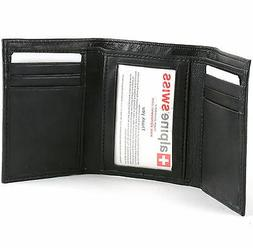 Alpine Swiss Men's Deluxe Trifold Leather Hi Quality Brand N