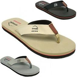 Alpine Swiss Mens Flip Flops Beach Sandals Lightweight EVA S