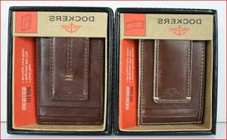 Dockers Men's FRONT Pocket Leather Wallet - 2 Slot Organizer