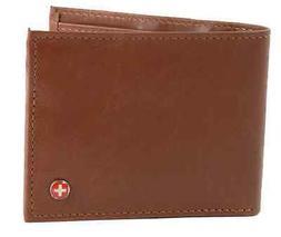 Alpine Swiss Men's Genuine Leather Wallet Slim Flip-out Bifo