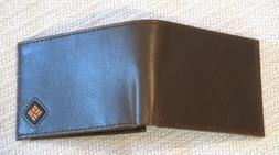 Columbia Men's Leather Slim Traveler Bifold Wallet,Brown,One