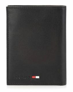 Tommy Hilfiger Men's Polished Lamb Credit Card Organizer,Bla