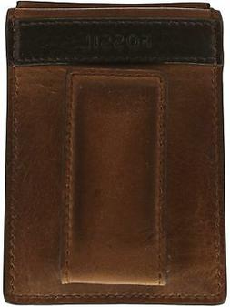 Fossil Men's Quinn Magnetic Card Case Leather Wallet