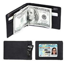 amelleon Men's RFID Blocking Leather Wallet - Front Pocket W
