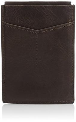 Fossil Men's RFID Card Case Wallet, Derrick-Dark Brown, One