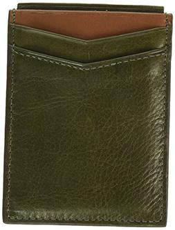 Fossil Men's RFID Card Case Wallet, Ethan-Green, One Size