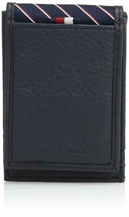 Tommy Hilfiger Men's RFID Leather Front Pocket Wallet With M