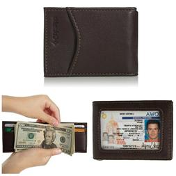 Columbia Men's RFID Wallet With Money Clip Fold Closure Fron