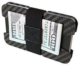 Fidelo Men's Wallet RFID Block Slim, Money Clip Minimalist O
