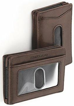Urban Tribe Men's Wallet Slim Leather, RFID Money Clip Card