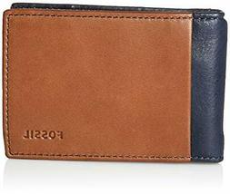 Fossil Men's Ward Leather RFID Blocking Money Clip Bifold Wa