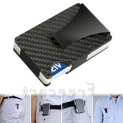 Men Stainless Steel Elastic Band Slim Money Clip Credit Card
