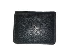 Mens Black Tyler Fossil Bifold Rfid Front Pocket Wallet Magn