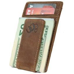 Mens Front Pocket Wallet with Money Clip by Urban Cowboy - G