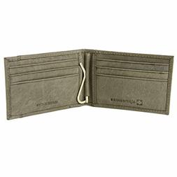 Alpine Swiss Mens Genuine Leather Spring Loaded Bifold Money