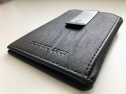 Hugo Boss Orange Men's Leather Bifold Money Clip/Card Hold