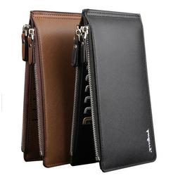 Mens Leather Card Wallet Money Clip Credit ID Card Holder Ul