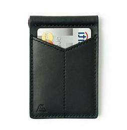Andar Mens Leather Money Clip, Front Pocket Minimalist Card