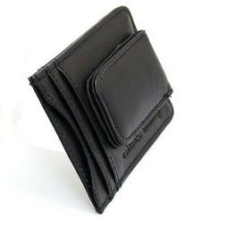 Mens Leather Money Clip Slim Front Pocket Wallet Magnetic ID