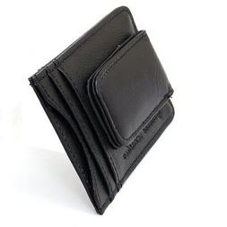 mens leather money clip slim front pocket