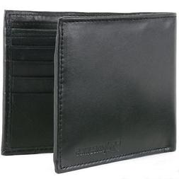 Alpine Swiss Mens Leather Wallet Money Clip Bifold Trifold F