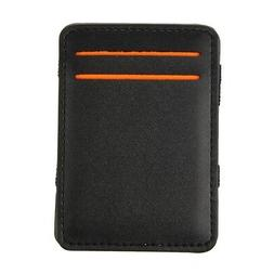 Mens Magic Flip Wallet Money Clip Bifold Slim Credit Card Ho