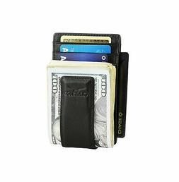 Claasico Mens Money Clip Wallet, Front Pocket RFID Blocking,