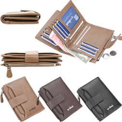 Mens PU Leather Magic Money Clip Slim Wallet ID Credit Card