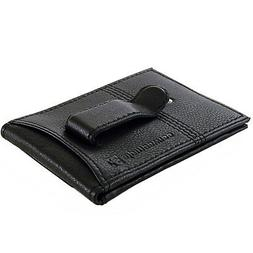 Alpine Swiss Mens RFID Blocking Leather Money Clip Flip Card