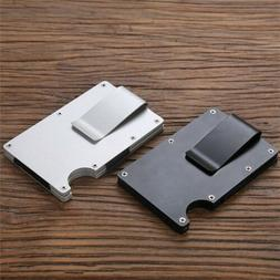 Mens RFID Blocking Slim Money Clip Wallet Credit Card ID Hol