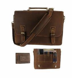 mens rfid leather messenger bag