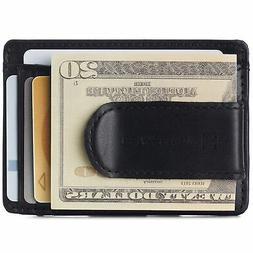 Alpine Swiss Mens RFID Safe Money Clip Minimalist Wallet ID