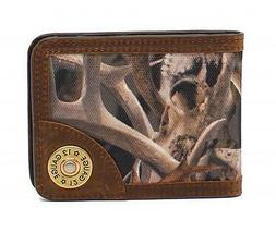 Ariat Mens Western Bi-Fold Money Clip Wallet Card Holder Bon