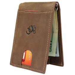 Mens Western Money Clip Bifold Wallet by Urban Cowboy - Genu