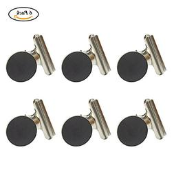 Large Metal Hinge Clips with Magnet, Coideal 6 Pack Silver B