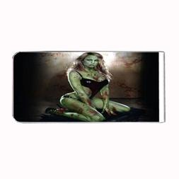 Metal Money Clip Bills Card Holder Rectangle 3rd Zombie D1 W