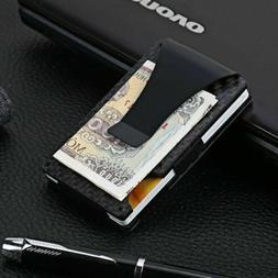 Metal Slim Wallet Front Pocket Minimalist Card Holder Money